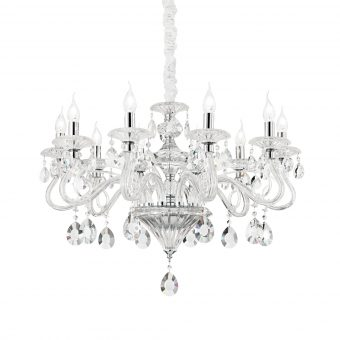 David 10 Light Clear Crystals Chandelier E2-51302