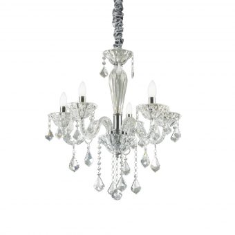 Edward 5 Light Chrome Crystals Chandelier E2-51288