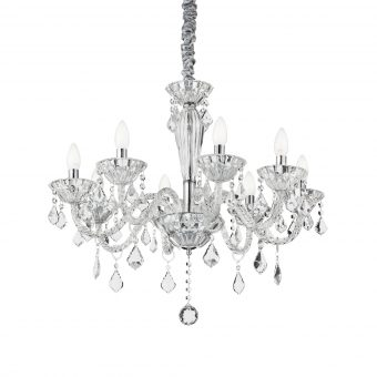 Edward 8 Light Chrome Crystals Chandelier E2-51289