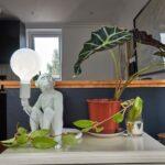 Monkey 1 Light White Table Lamp E2-38947-5