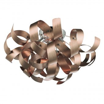 Crysler Light Brushed Copper Flush E