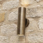 Freemont Light Antique Brass Exterior Wall Light E