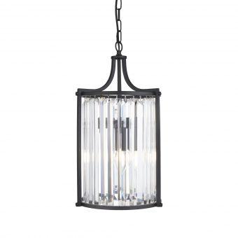 2-Light-Black-Clear-Crystal-Pendant-E2-51334