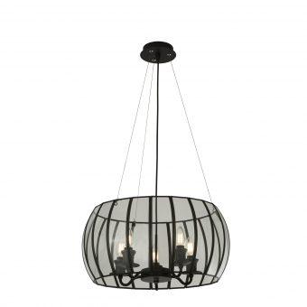 5-Light-Black-Glass-Cage-Chandelier-E2-51351