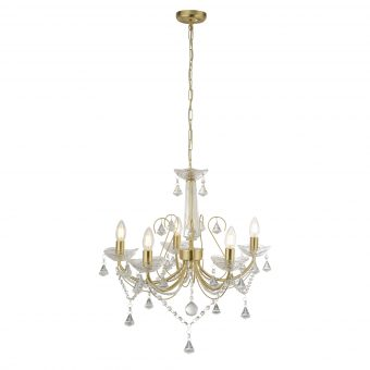 5-Light-Gold-Clear-Crystal-Chandelier-E2-51340