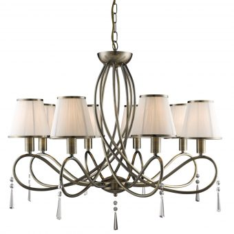 8-Light-Traditional-Antique-Brass-Chandelier-with-String-Shades-E2-51342