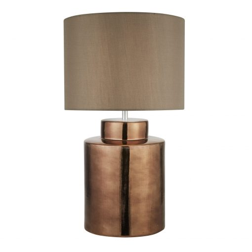 Bronze-Table-Lamp-with-Brown-Shade-E2-51389