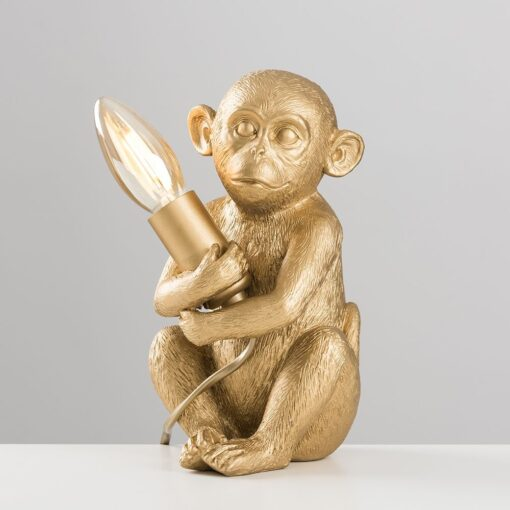 Monkey-1-Light-Gold-Table-Lamp-E2-39811-3