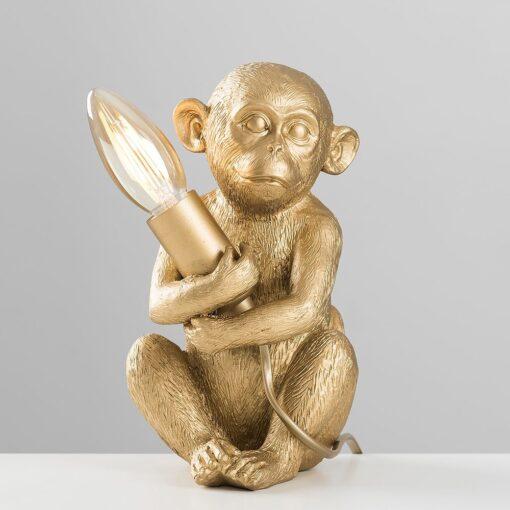 Monkey-1-Light-Gold-Table-Lamp-E2-39811-4