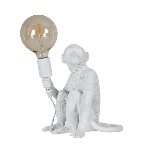 Monkey-1-Light-White-Table-Lamp-E2-38947-1