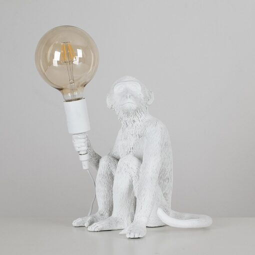 Monkey-1-Light-White-Table-Lamp-E2-38947-2
