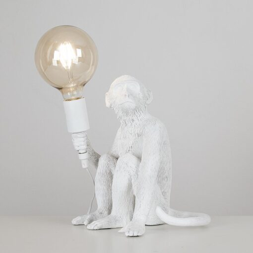 Monkey-1-Light-White-Table-Lamp-E2-38947-3